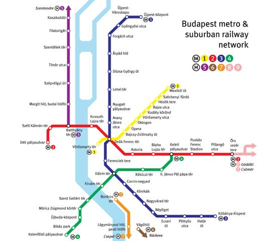 מפת מטרו בודפשט בודפשט מידע חשוב על העיר